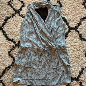 Drape front Snake Print Dress